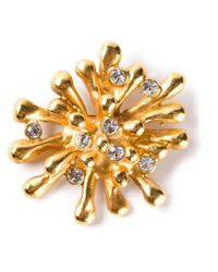 Christian Lacroix | Metallic Crystal Pin Brooch | Lyst