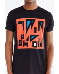 Urban Outfitters - Black Twin Shadow Geo-letters Tee for Men - Lyst
