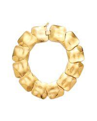 Tuleste | Metallic Square Collar Necklace | Lyst