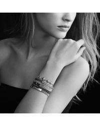 David Yurman - Metallic Petite Pavé Curb Link Bracelet with Diamonds - Lyst