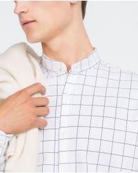 Zara | White Piqué Shirt for Men | Lyst