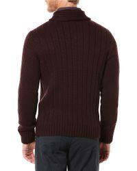 Perry Ellis | Purple Shawl Collar Sweater for Men | Lyst