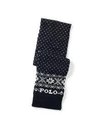 Polo Ralph Lauren - Black Snowflake Wool Scarf for Men - Lyst