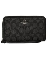 COACH | Black Box Program Signature Zip Case | Lyst
