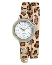 La Mer Collections - Multicolor 'del Mar' Leather Strap Wrap Watch - Lyst