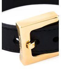 Saint Laurent | Black Buckled Bracelet | Lyst