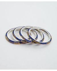 Chamak by Priya Kakkar - Set Of 4 Blue And Gold Jeweled Bangles - Lyst