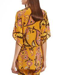Gucci | Multicolor Paisley Print Silk Oversize Top | Lyst