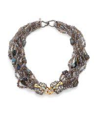 Alexis Bittar - Metallic Elements Labradorite, French Blue, Crystal & Pyrite Mult-strand Bib Necklace - Lyst