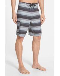 Jack O'neill - Black 'resin Dos' Stripe Board Shorts for Men - Lyst