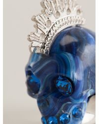 Alexander McQueen | Blue Mohican Skull Cocktail Ring | Lyst