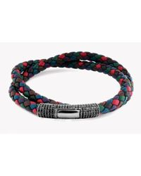Tateossian | Multicolor Double Wrap Multi-double Pave Bracelet for Men | Lyst