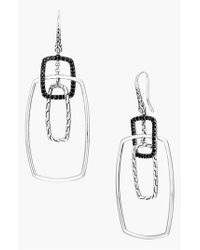 John Hardy | Metallic 'classic Chain' Rectangular Drop Earrings | Lyst