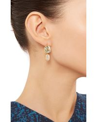 Renee Lewis | Green 18K Yellow Gold Aquamarine Earrings | Lyst