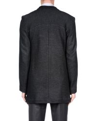 Paolo Pecora - Gray Coat for Men - Lyst