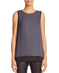 Vince - Gray Layered Tank Top - Lyst