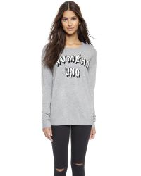 Zoe Karssen - Gray Numero Uno Sweater - Grey Heather - Lyst