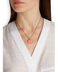 Marc By Marc Jacobs | Orange Lost And Found Silver Tone Bottle Top Necklace | Lyst
