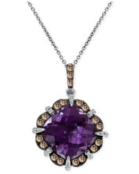 Le Vian | Metallic Amethyst (4-4/5 Ct. T.w.) And Diamond (1/2 Ct. T.w.) Pendant Necklace In 14k White Gold | Lyst