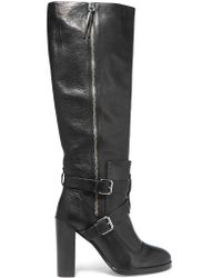 Rebecca Minkoff | Black Billie Textured-leather Over-the-knee Boots | Lyst