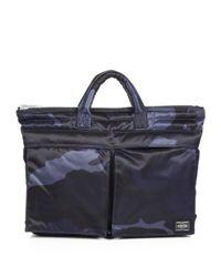 Porter | Blue Small Camo Briefcase for Men | Lyst