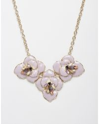 Oasis | Purple Ombre Shimmer Flower Collar Necklace | Lyst