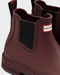Hunter | Purple Women's Original Pulltab Lightweight Chelsea Boots | Lyst