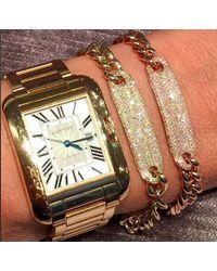 Anne Sisteron | Metallic 14kt Rose Gold Diamond Luxe Id Bracelet | Lyst