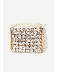 Bebe | Metallic Crystal & Bead Bracelet | Lyst