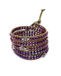 Nakamol | Multicolor Brilliant Wrap Bracelet-dark Purple | Lyst