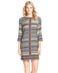 Laundry by Shelli Segal - Multicolor Print Twill A-line Dress - Lyst