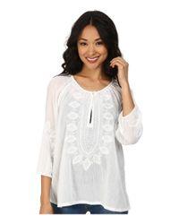 Tommy Bahama - White Corrine Gauze Embroidered Tunic - Lyst