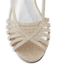 Caparros | Natural Tango Sparkling Sandal Wedges | Lyst