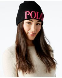 Polo Ralph Lauren | Red Polo Icon Beanie | Lyst