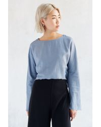 Silence + Noise | Blue Dana Top | Lyst