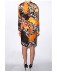 Acne Studios - Orange Dark Terrazzo Print Noble Dress - Lyst