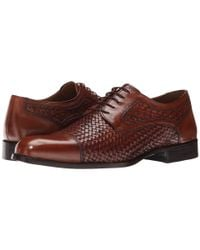 Johnston & Murphy | Brown Stratton Woven Cap Toe for Men | Lyst