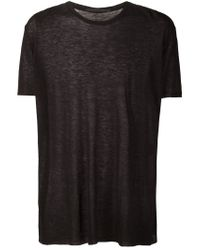 Haider Ackermann - Black Crew Neck T-shirt for Men - Lyst