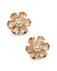 kate spade new york | Multicolor 'at First Blush' Crystal Stud Earrings | Lyst