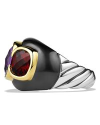 David Yurman | Multicolor Renaissance Three-stone Ring With Amethyst, Garnet & Gold | Lyst