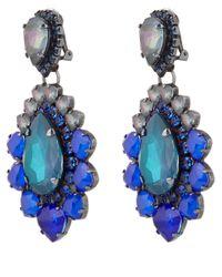 Vickisarge | Blue Adele Earrings | Lyst