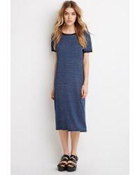 Forever 21 - Blue Ringer T-shirt Dress - Lyst