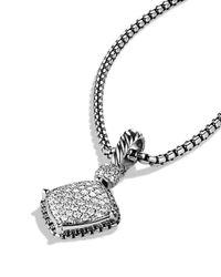David Yurman - Metallic Cushion On Point Pendant With Diamonds - Lyst