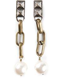 Lanvin - Metallic Drop Earrings - Lyst