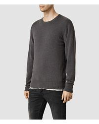 AllSaints - Gray Mont Cashmere Crew Jumper for Men - Lyst