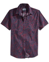 American Rag - Red Sanders-print Shirt for Men - Lyst