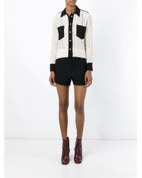 See By Chloé Natural Embroidered Lace Panel Shirt