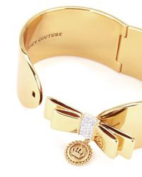 Juicy Couture | Metallic Large Bow Cuff Bracelet | Lyst