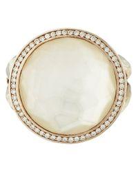 Ippolita - Metallic Silver Mother Of Pearl And Diamond Stella Lollipop Ring - Lyst