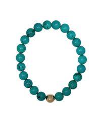 Ali Grace Jewelry | Blue Turquoise Gold Ball Bracelet | Lyst